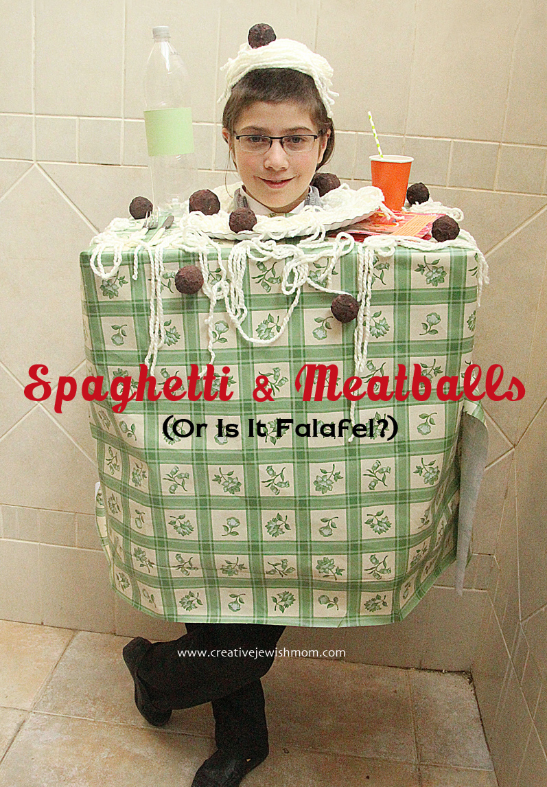 Purim Meatballs and Sphaghetti Costume