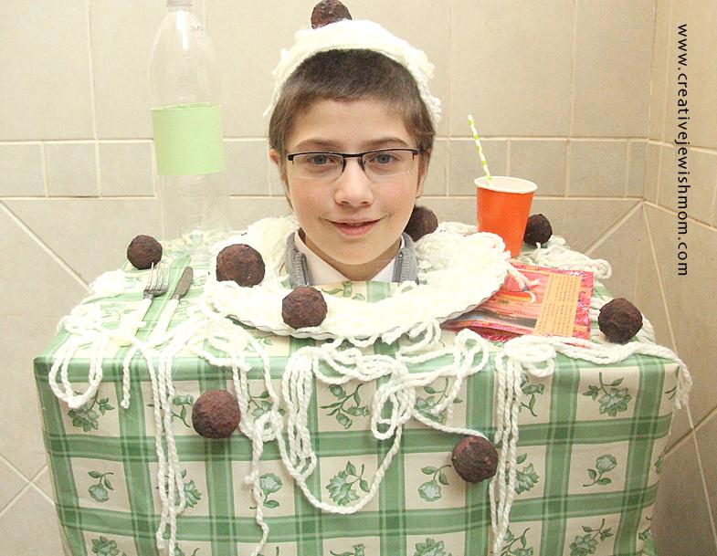 Purim Meatballs and Spaghetti Costume