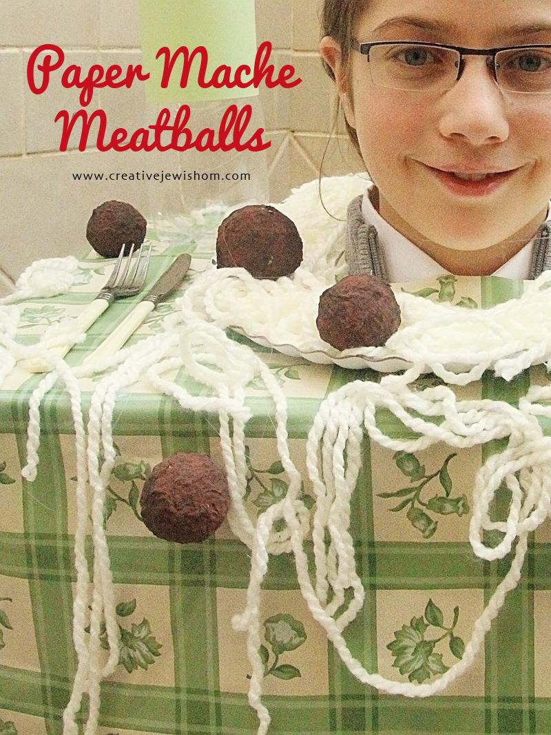 Paper Mache Meatballs DIY