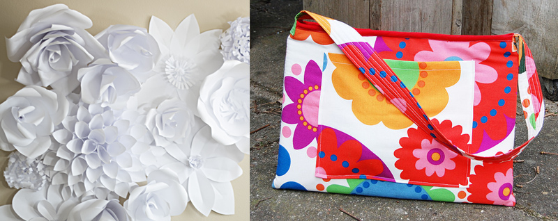 Paper flower DIY,laptop bag DIY