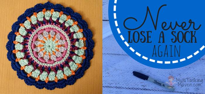 Dont loose socks idea,crocheted mandala