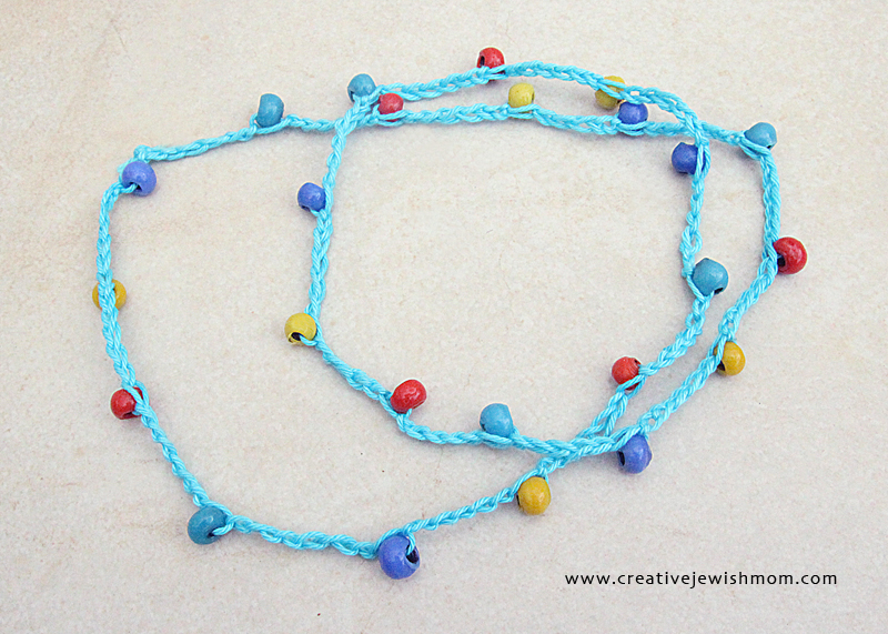 Crocheted Beaded Necklace colorful beads