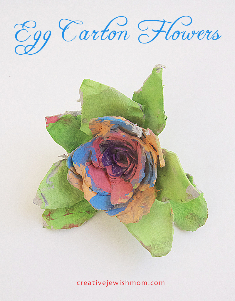 Flower Craft Egg Carton Flowers