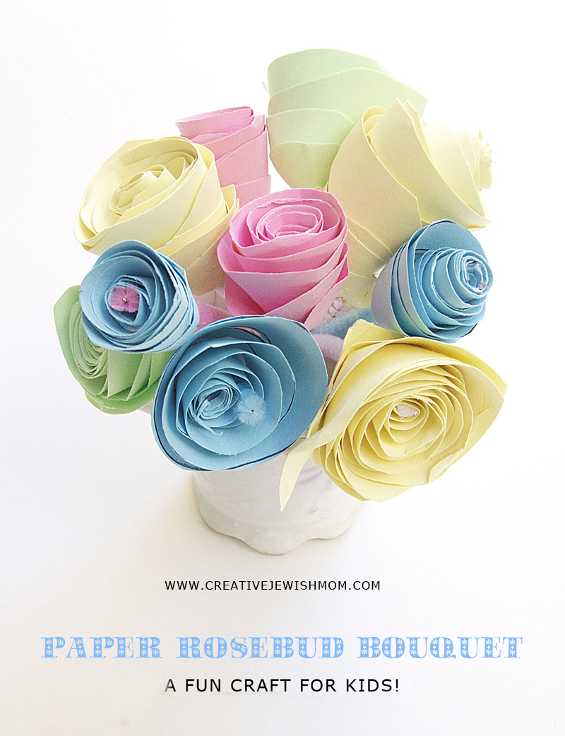 Flower Craft Paper Rosebud Craft for kids