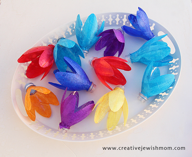 Flower Crafts Plastic Bottle tulips