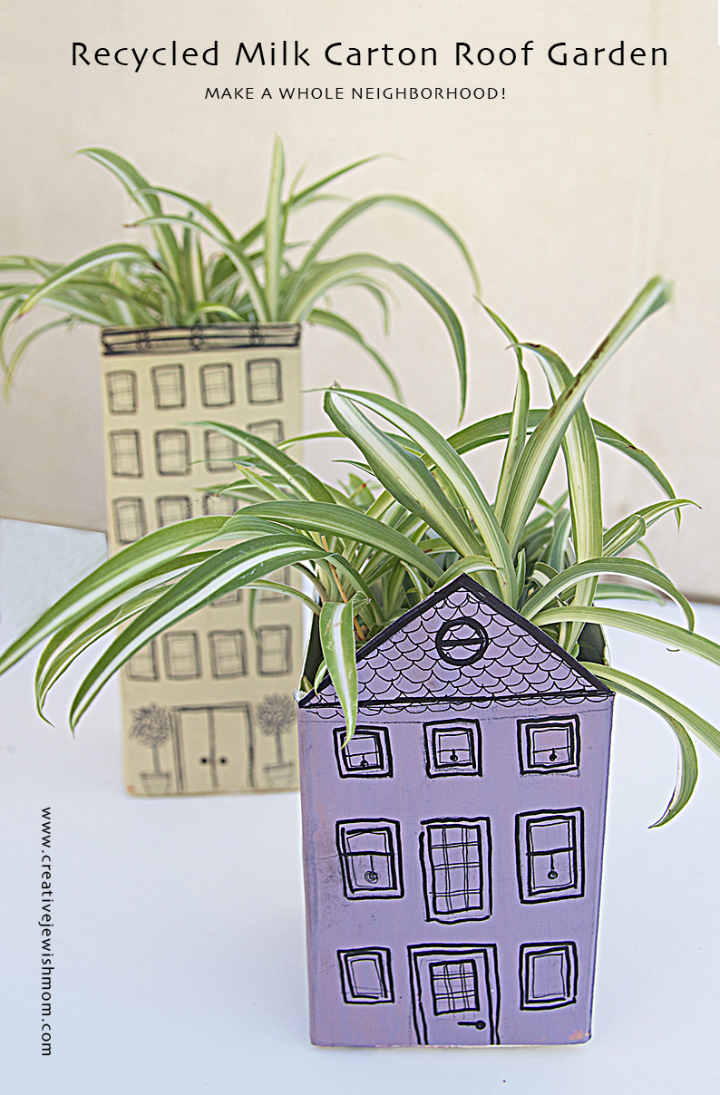 Milk Carton Roof Garden House And Apt. Bldg