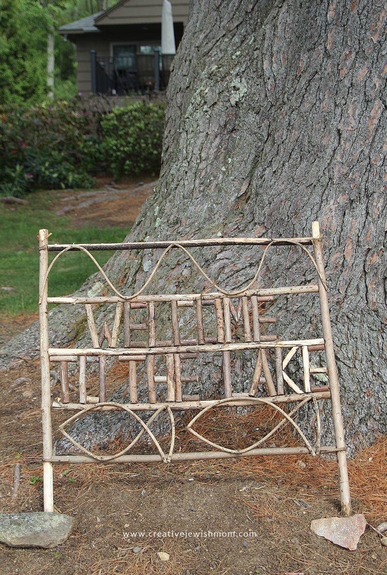 Twig Craft Welcome Sign Adirondack Style