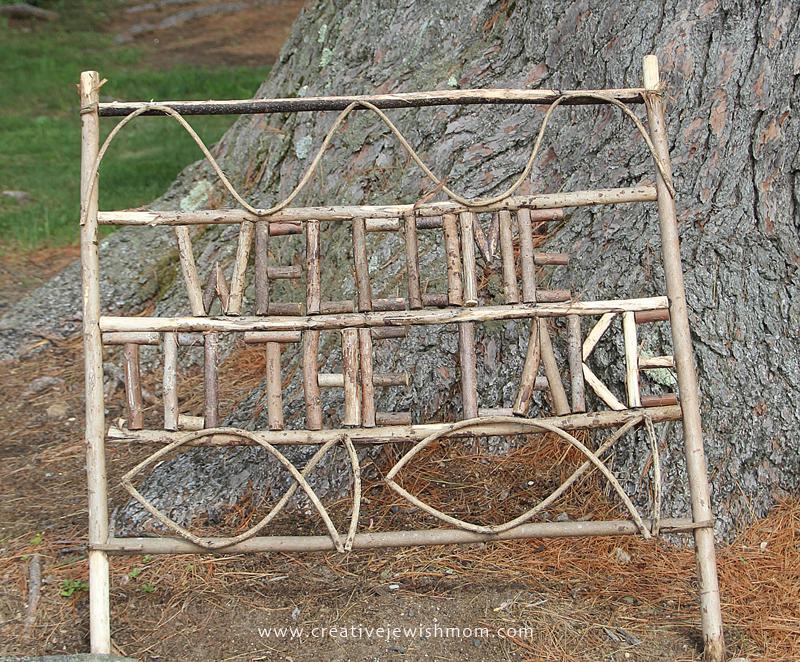Twig Craft Sign camp craft