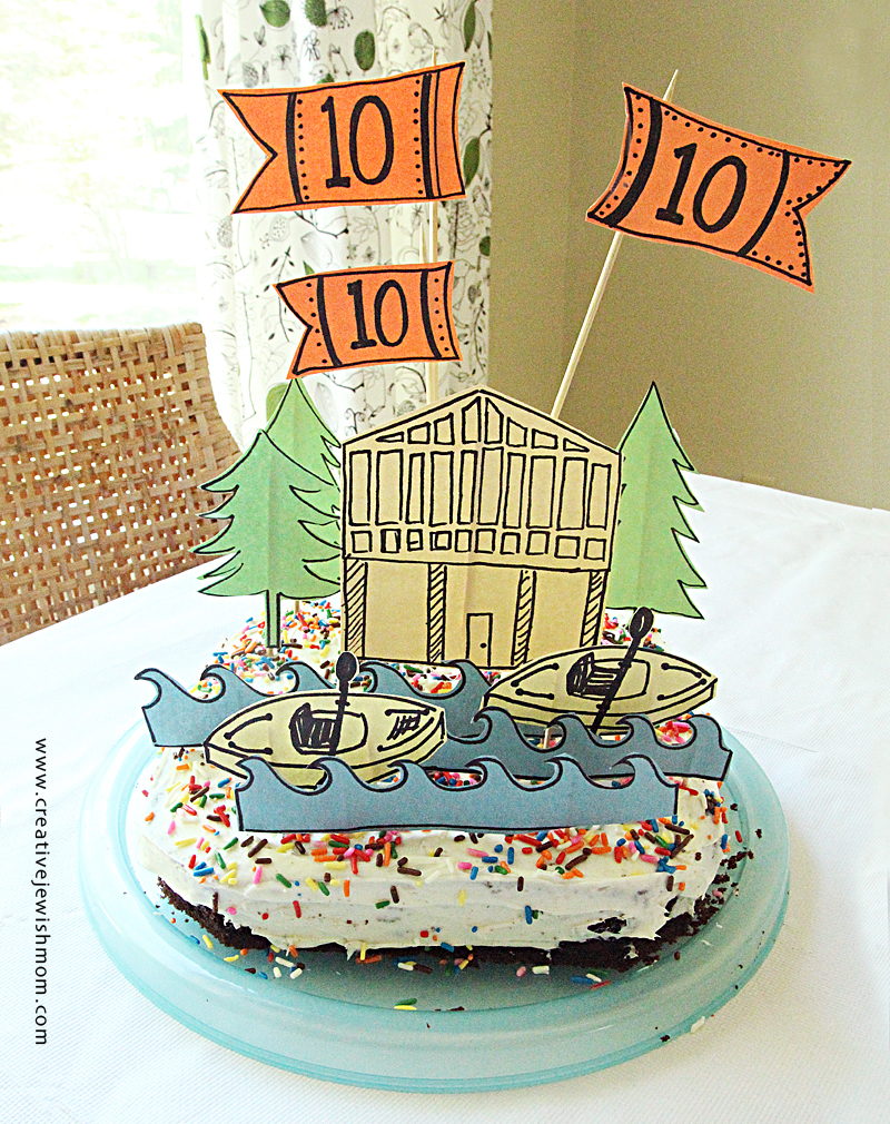 Birthday Cake Super Simple Lake Theme Decorations From Paper