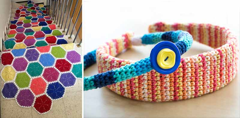 Crocheted headband,crocheted hexigon runner