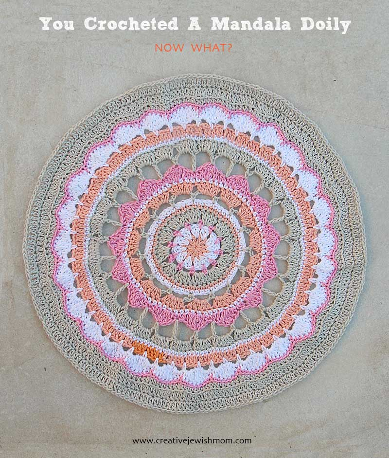 Crocheted Mandala Doily