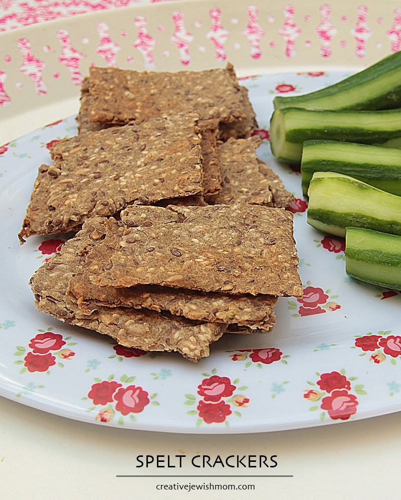 Spelt Crackers With Sesame and Flax