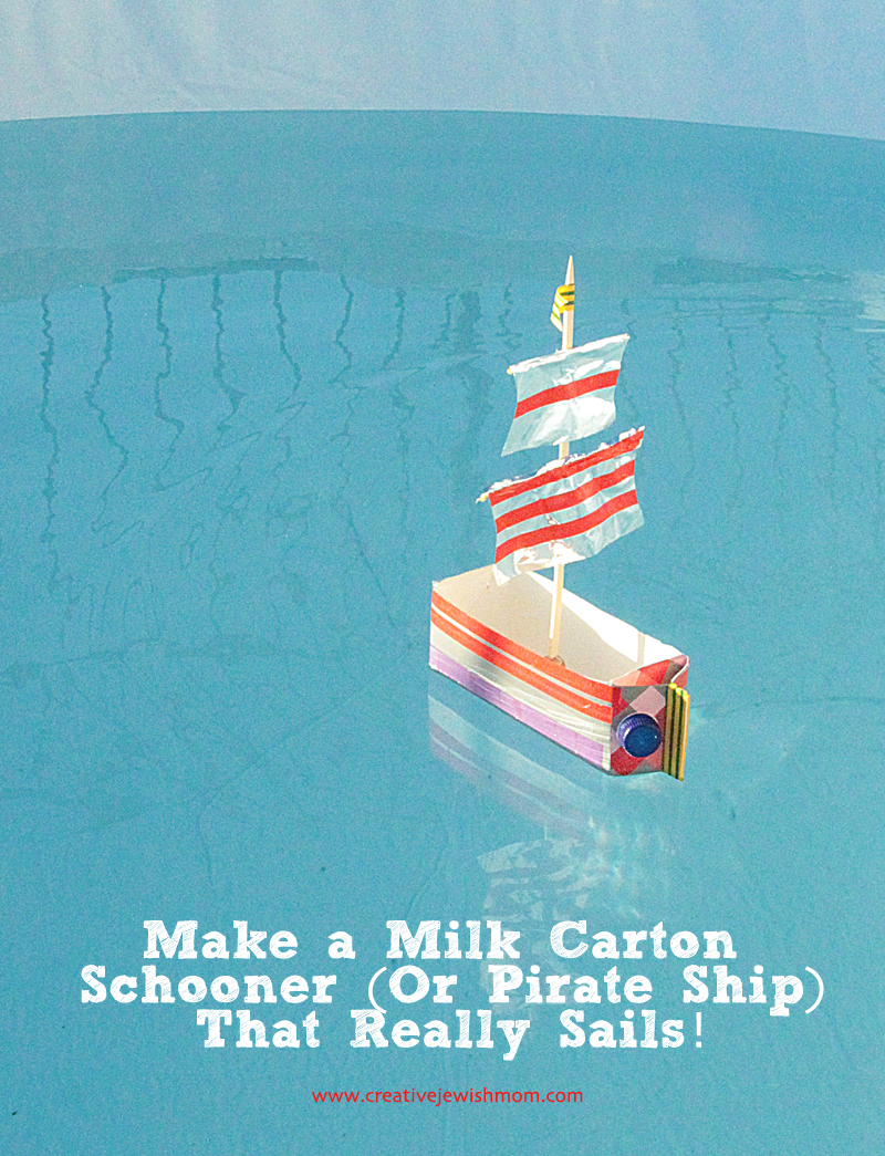 Milk Carton Boat Schooner Sailboat