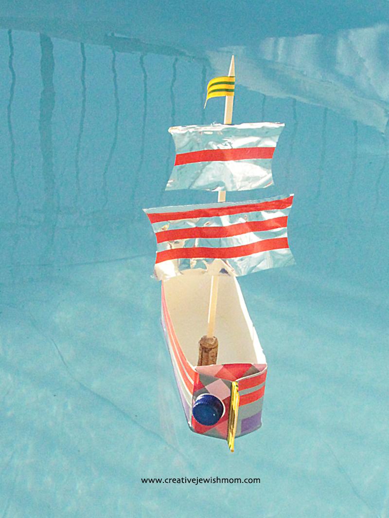 Milk Carton Sailboat Schooner