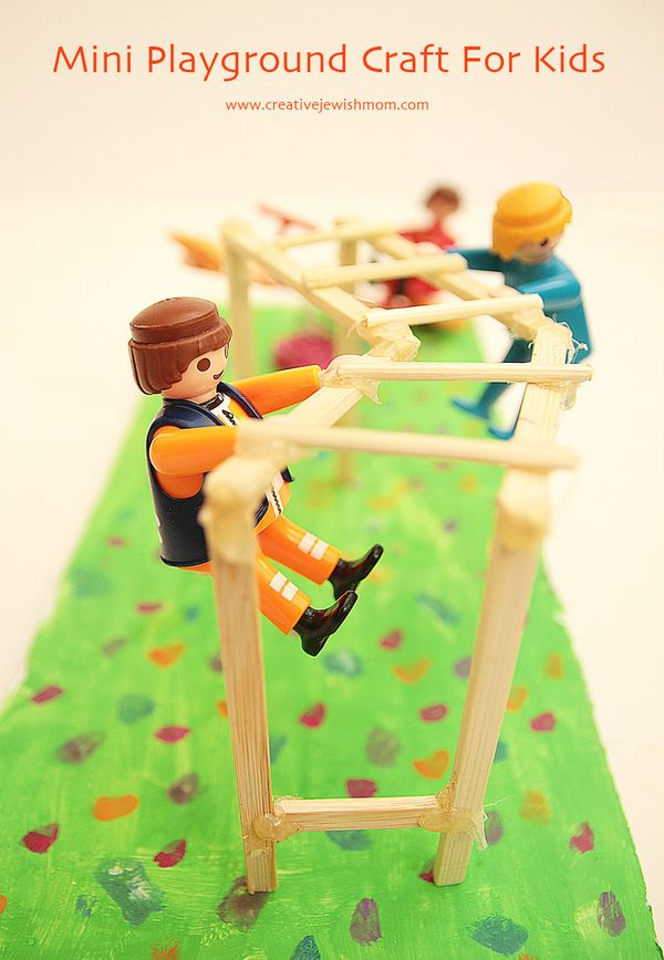 Miniature Playground Craft For Kids Is So Much Fun