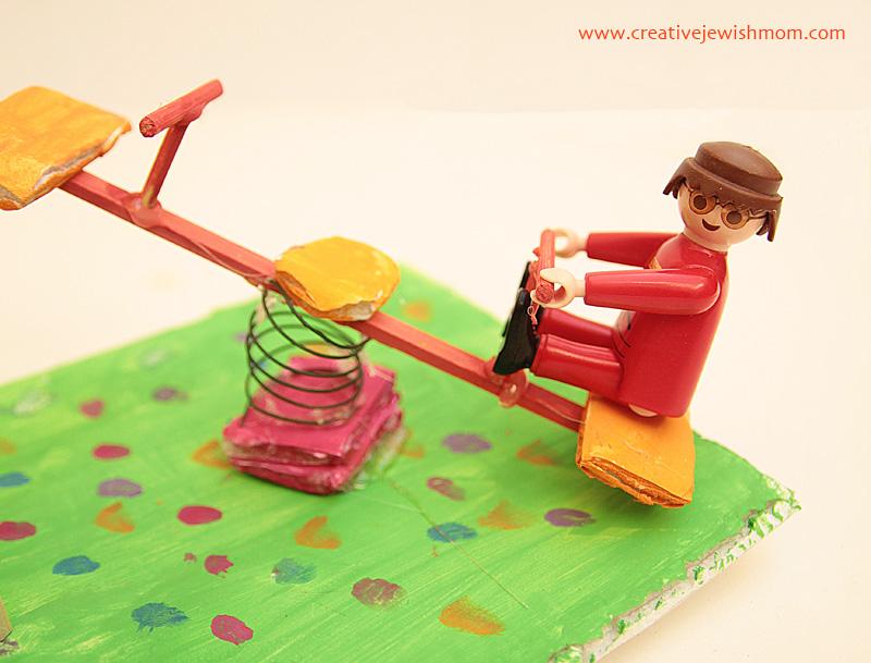Kids Mini Playground craft seesaw