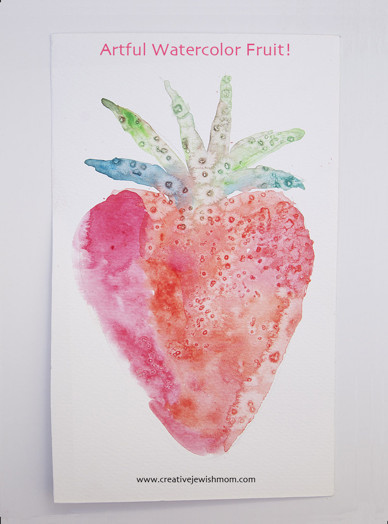 Watercolor fruit strawberry
