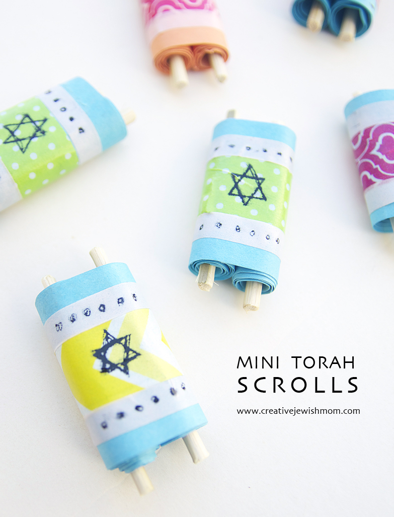 Torah Scrolls mini for simchat torah