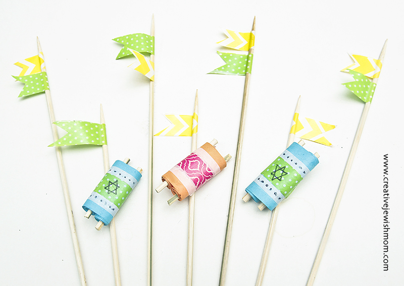 Mini Torah Cake Flags