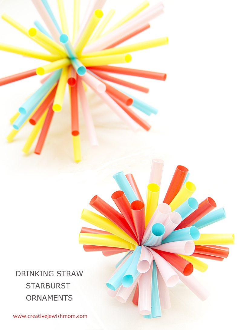 Quick Drinking Straw Starburst Ornaments Perfect For So Many