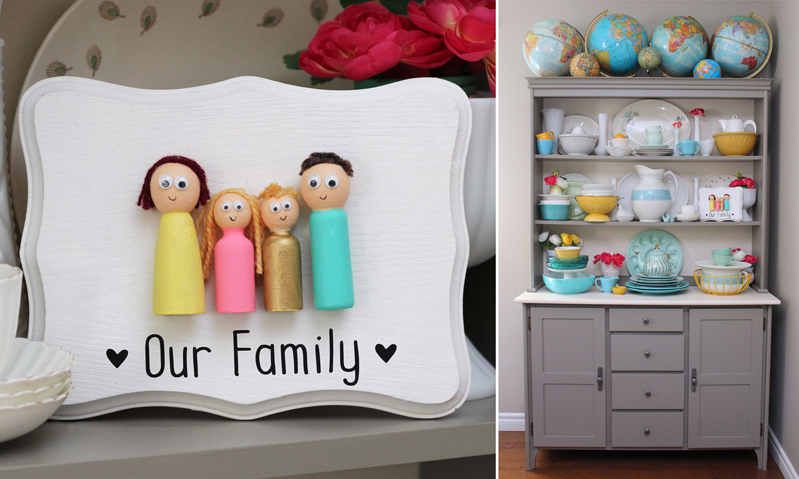 Peg doll craft, our family