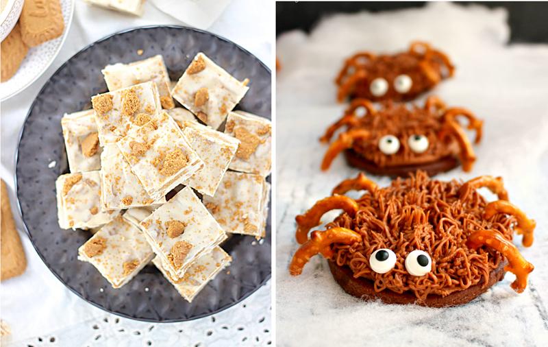 Bishoff cookies fudge,spider cookies
