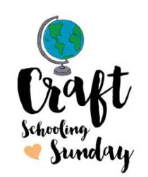 Craft schooling sunday title art square