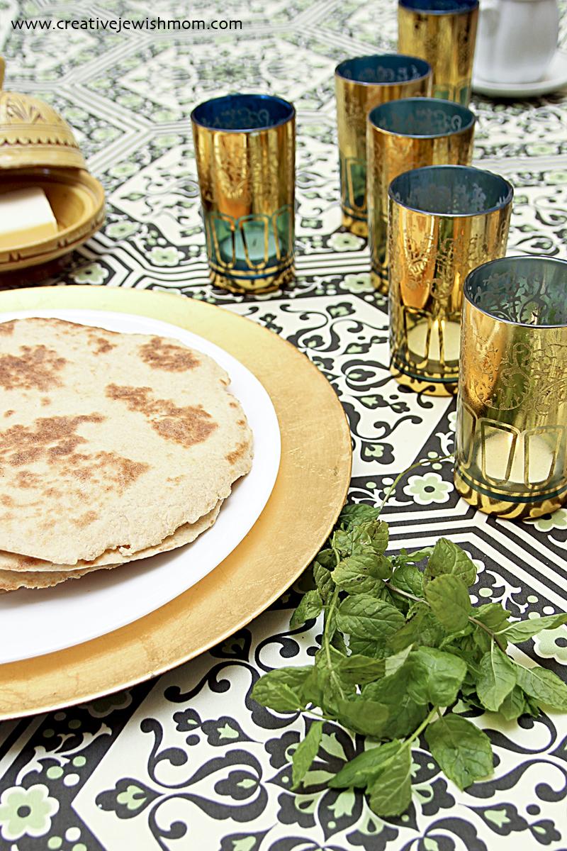 Moroccan Hanukkah Mofleta Flat Bread