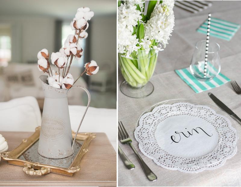 Doily place mats,rustic cotton vase