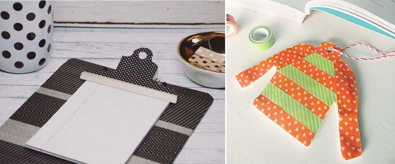 Washi tape clipboard,washi tape sweater ornament