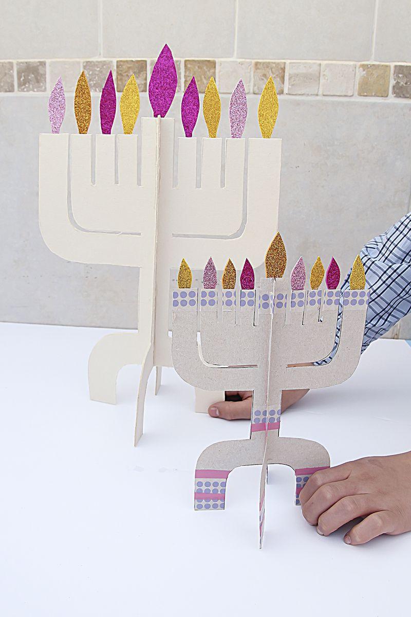 Hanukkah Menorahs Cardboard Two Sizes