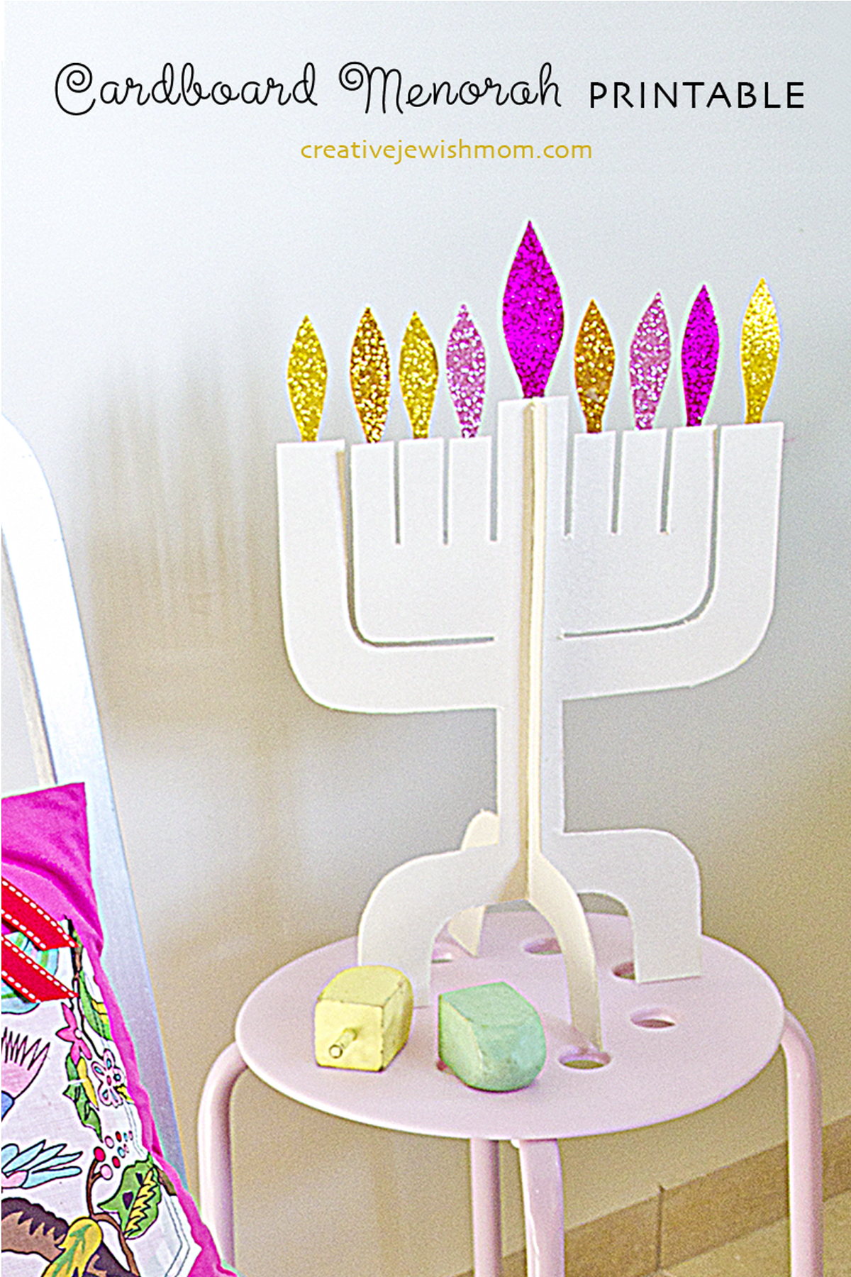 picture relating to Menorah Printable referred to as Hanukkah Menorah Craft Electronic Package At the moment In just The Keep