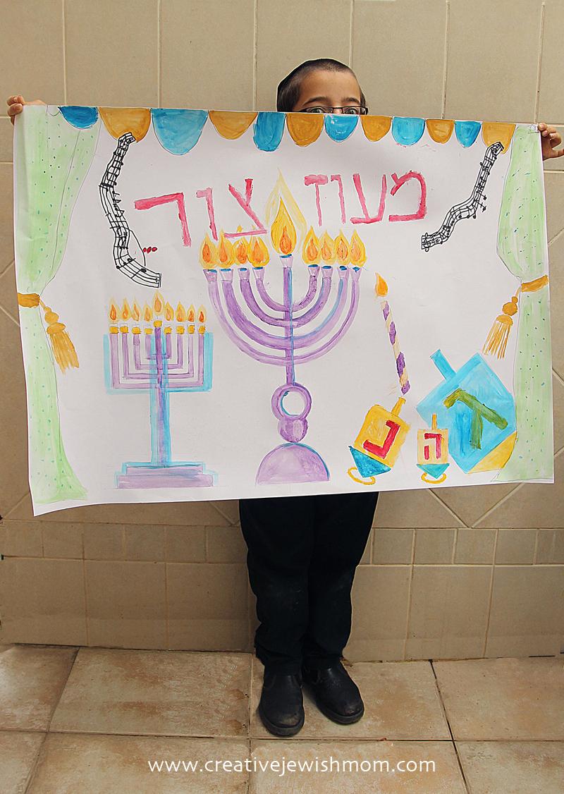 Hanukkah Poster Craft For Kids