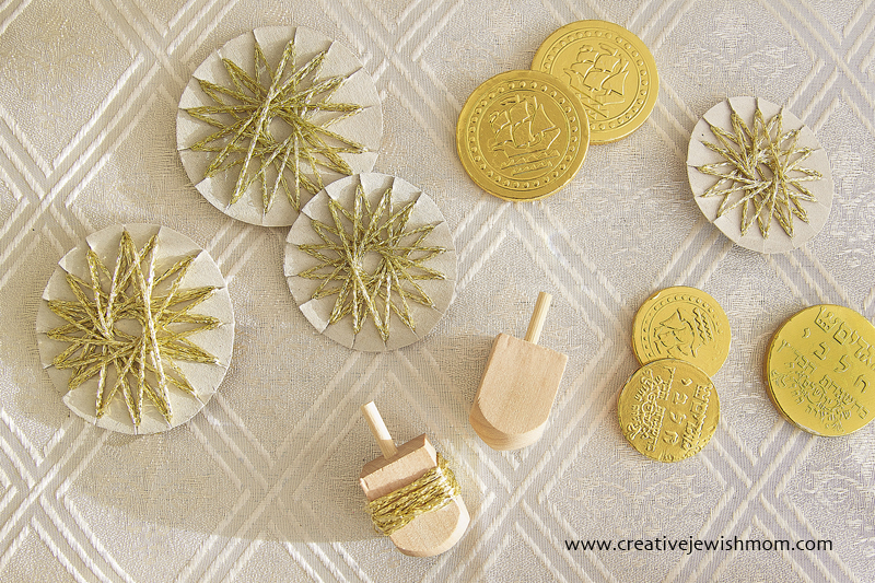 String Stars Geometric Ornaments with coins