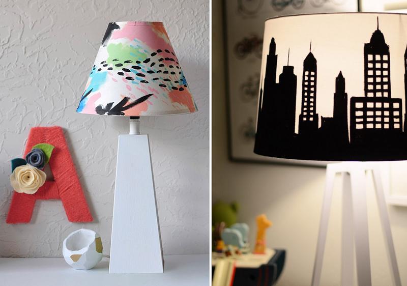 Captivating DIY Painted Lampshades