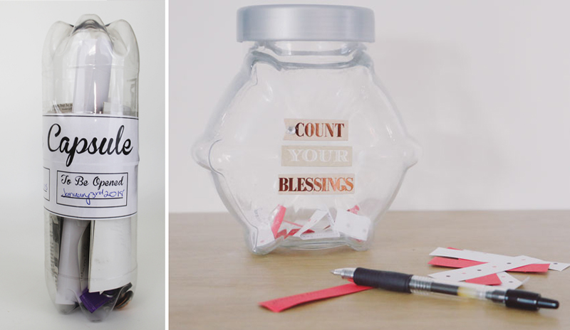 Count your blessings jar,family time capsule