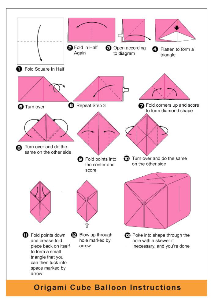 Origami Balloon Diagram