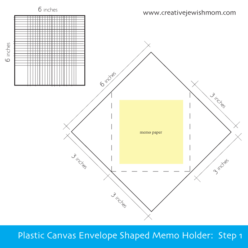 Plastic Canvas Envelope Memo Holder Pattern 1
