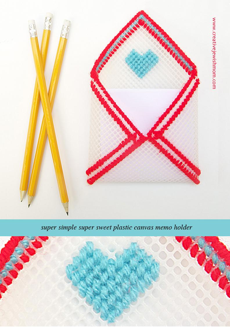 Plastic Canvas Envelope Memo Holder Simple