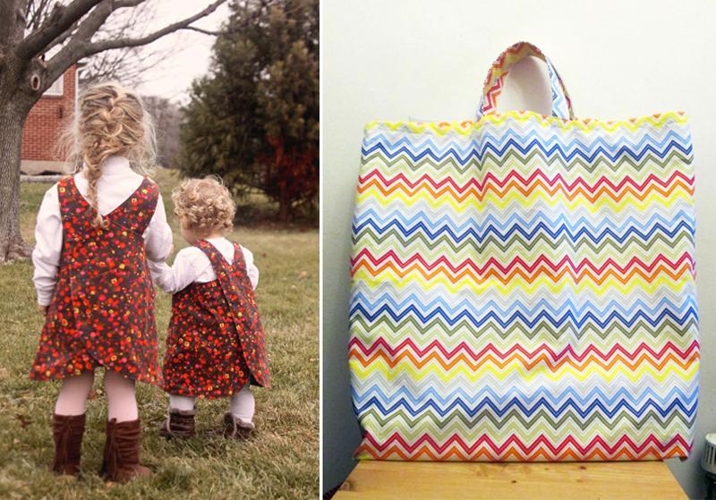Sewing pattern criss cross toddler jumper,sewn storage bag