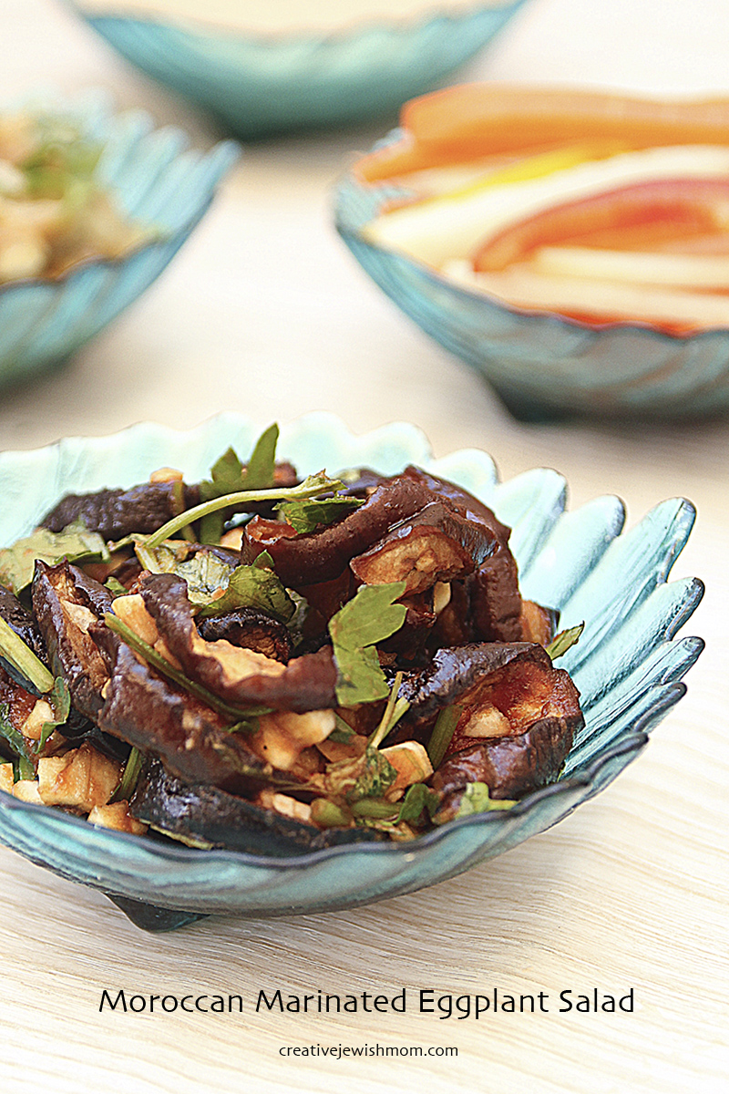 Moroccan Marinated eggplant salad