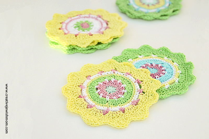 Crochet Mandala Mini Spring Colors