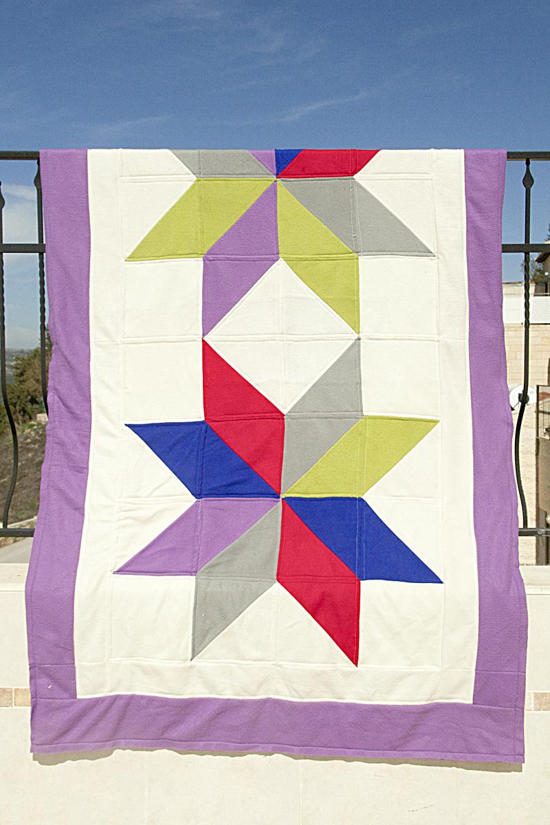 Giant Lonestar Block Quilt With Fleece
