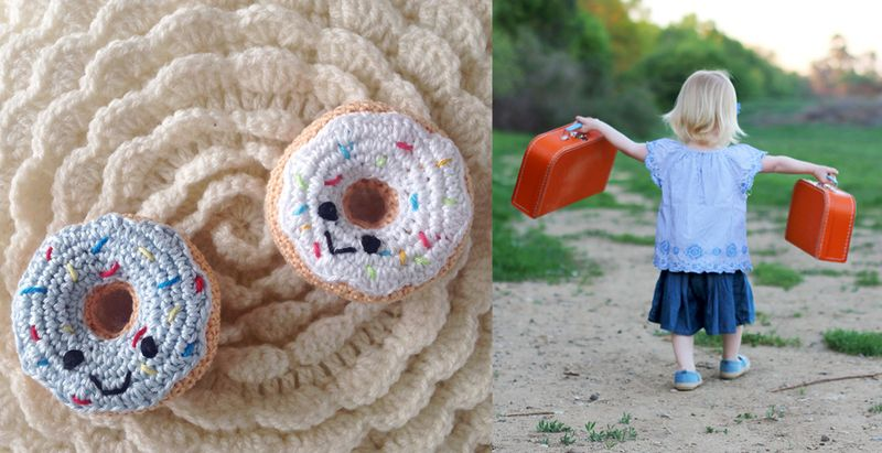 Crocheted doughnuts, toddler staycation ideas