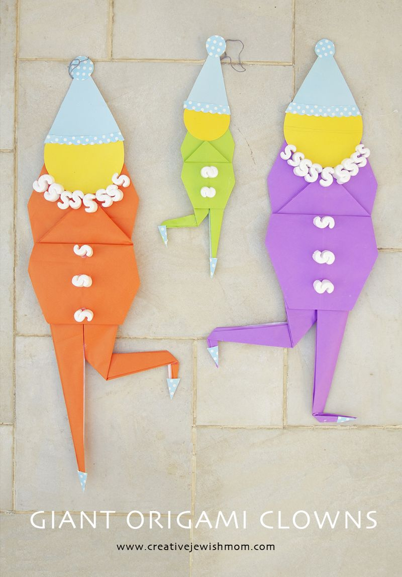 Clown Origami Giant Party Decorations