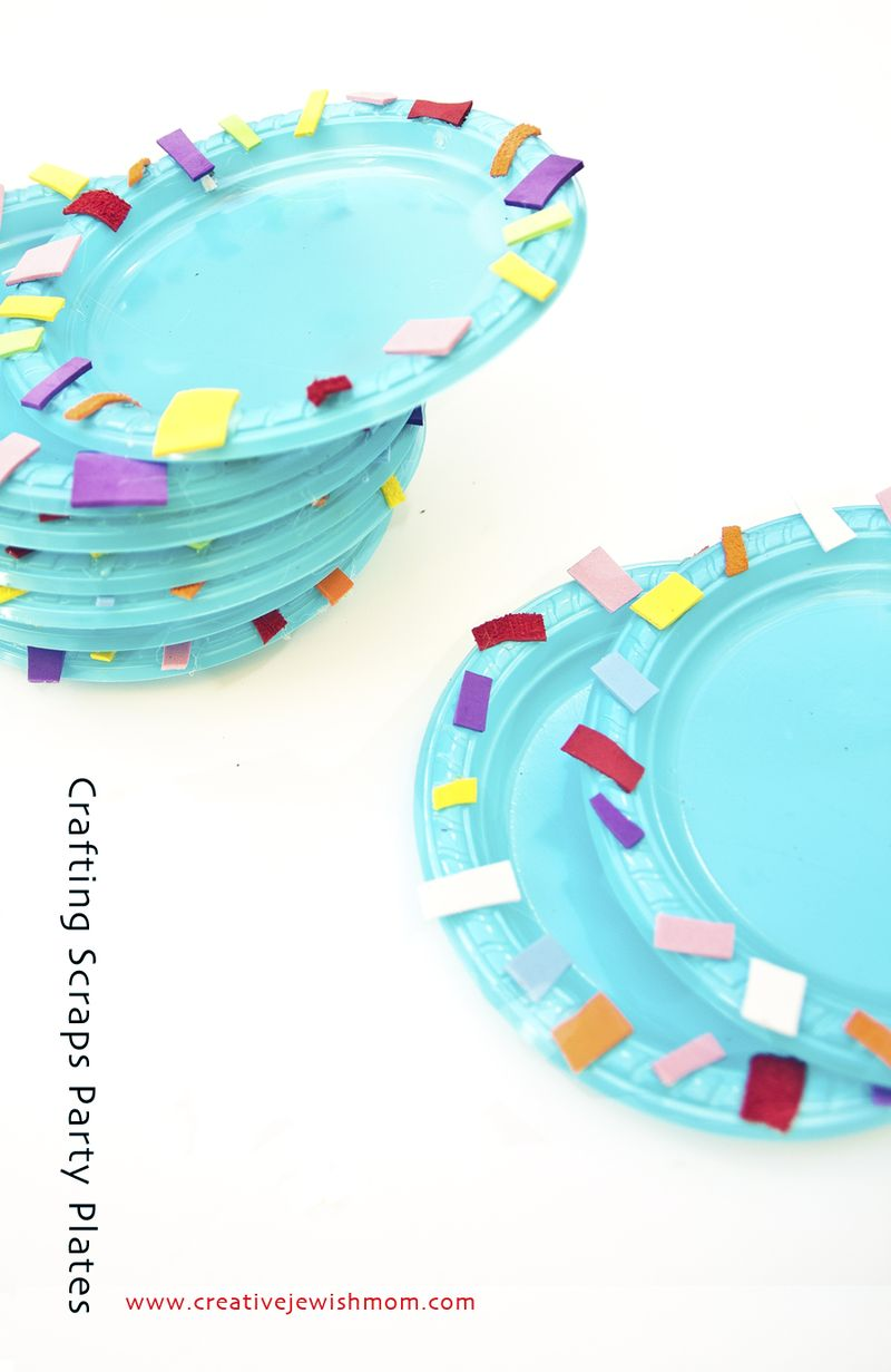 Crafting Scraps Party Plate craft for kids