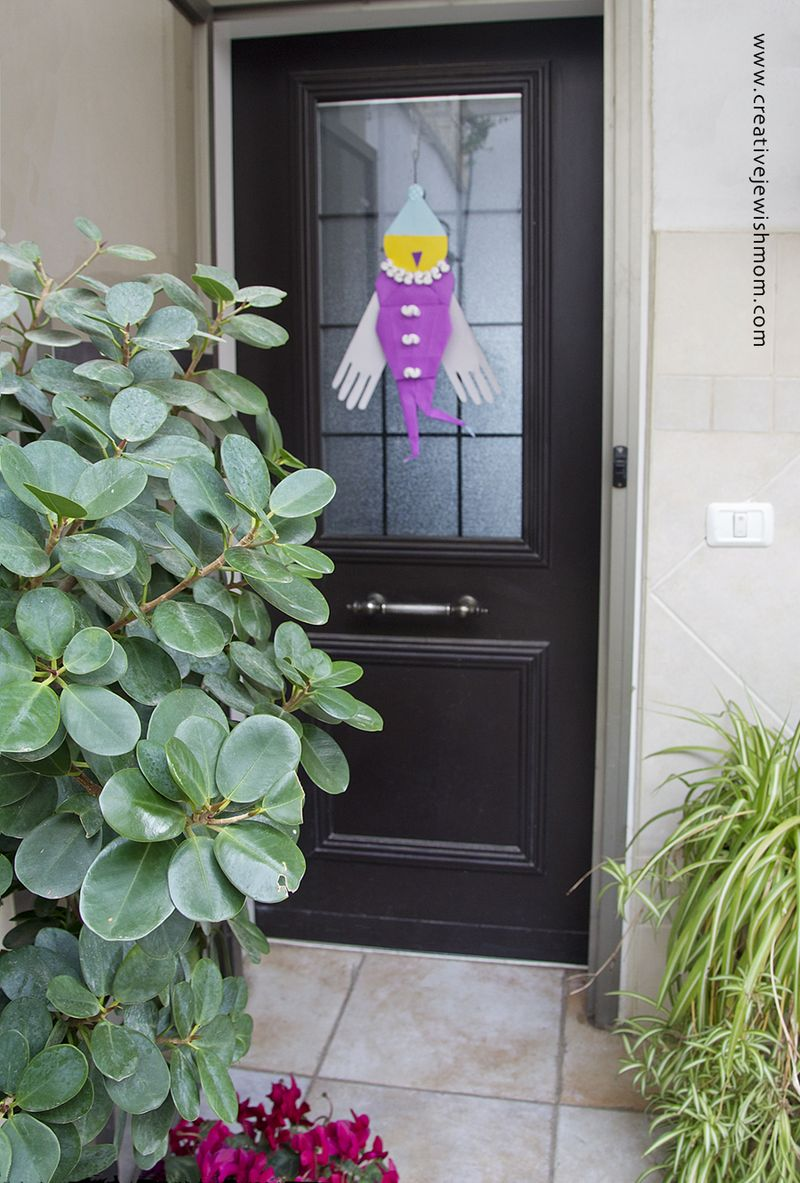 Origami Clown On Door
