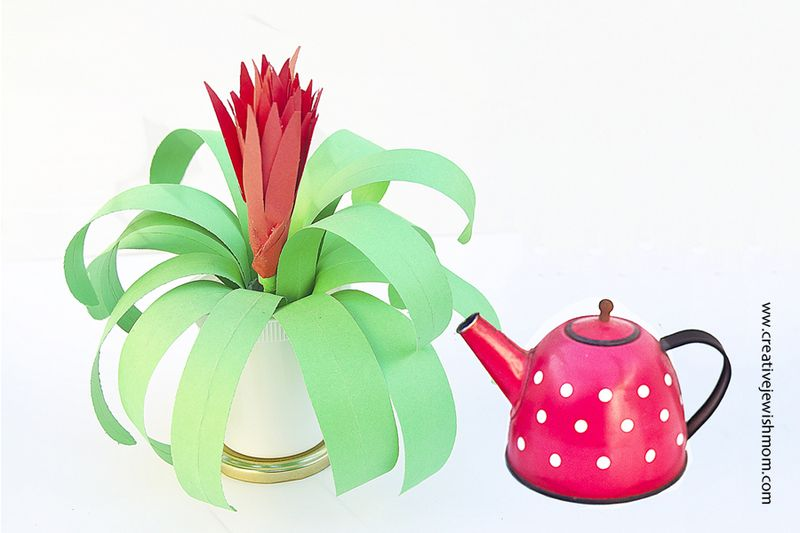 Paper Plant Craft For Kids