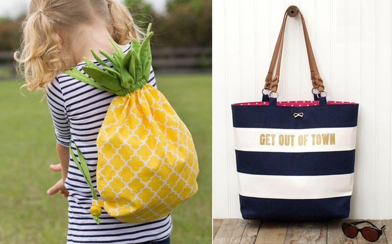Pineapple drawstring bag,kate spade knock off bag