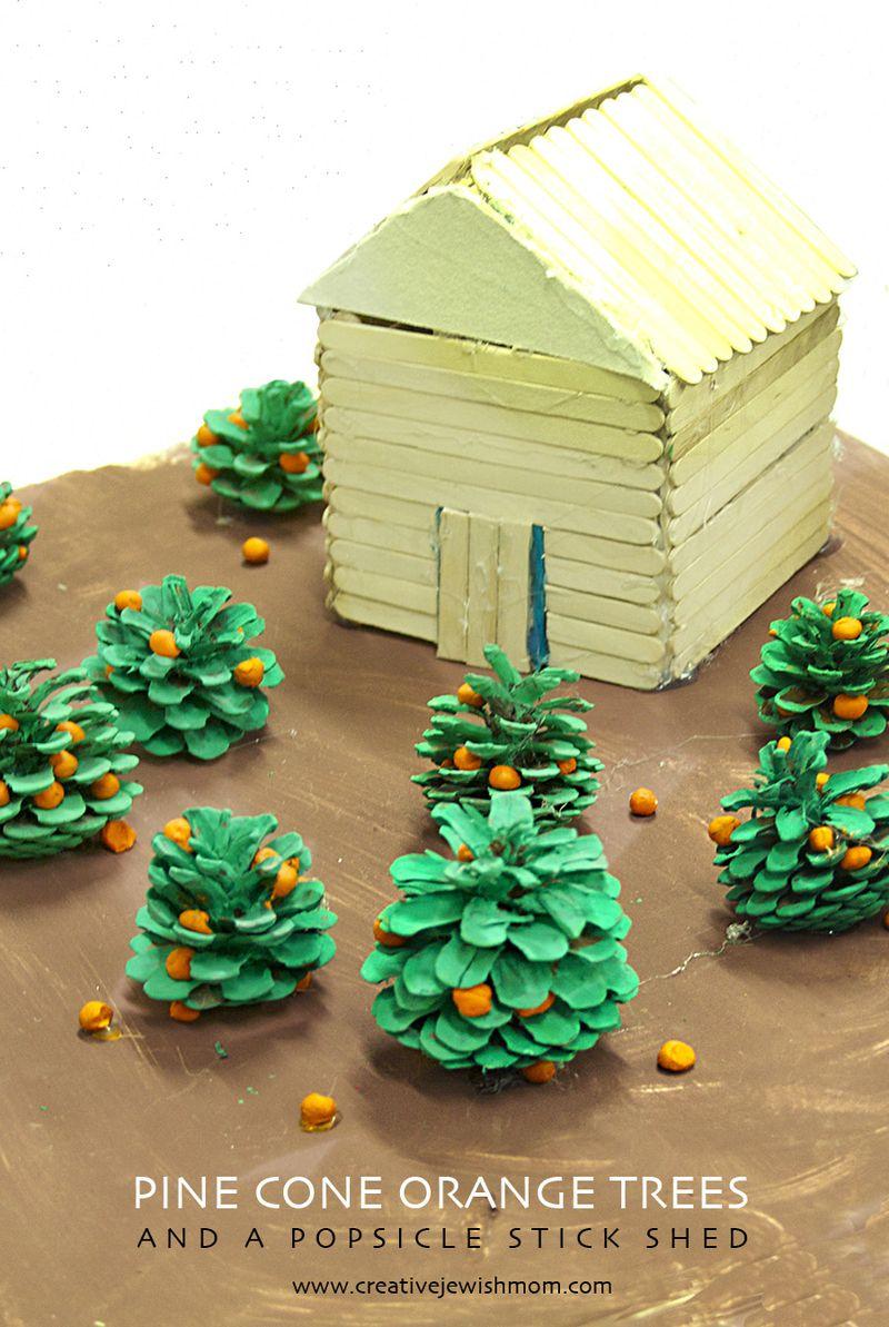Pinecone Kid's craft orange orchard